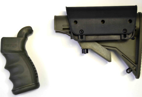 AR/M4 Stock-Pistol Grip-Adjustable Cheek Rest Kit